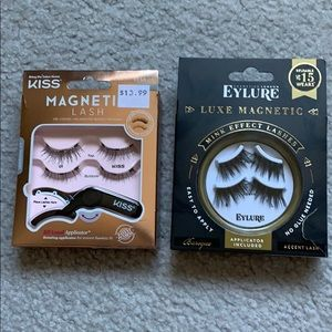 2 boxes of magnetic accent lashes w/ applicators